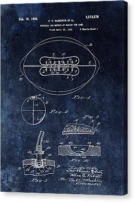 Antique Football Patent Drawing Canvas Print