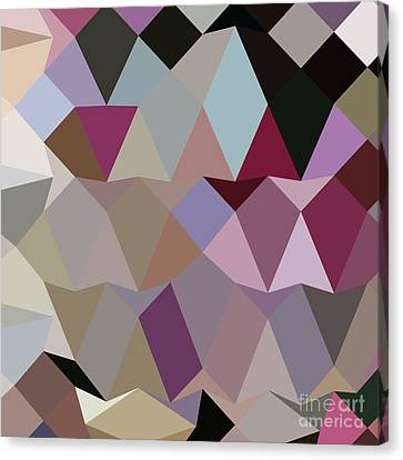 Antique Fuschia Abstract Low Polygon Background Canvas Print by Aloysius Patrimonio