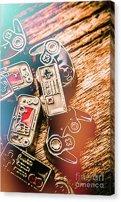 Antique Gaming Consoles Canvas Print by Jorgo Photography - Wall Art Gallery