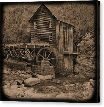 Antique Glade Creek Grist Mill Canvas Print by Dan Sproul