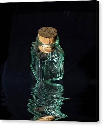 Stopper Canvas Print - Antique Glass Bottle by David French