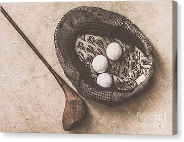 Sports Collectibles Canvas Print - Antique Golfer Still Life by Jorgo Photography - Wall Art Gallery