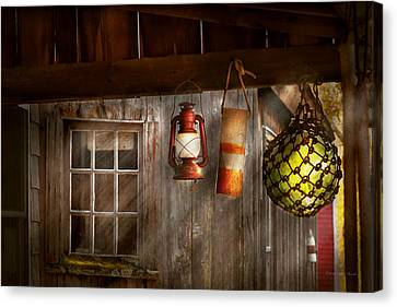 Antique - Hanging Around Canvas Print by Mike Savad
