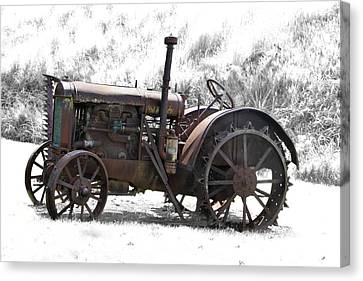 Antique Iron Horse Canvas Print by Kathy M Krause