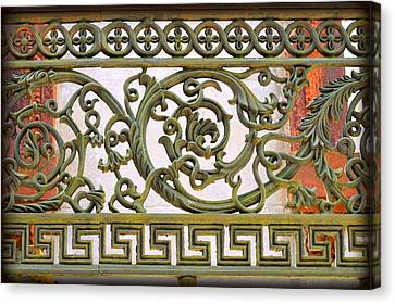 Antique Ironwork Canvas Print by Linda Covino