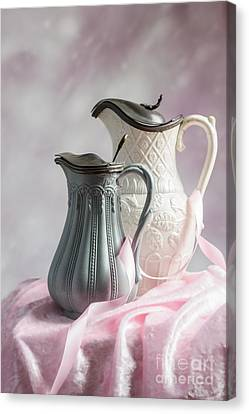 Ceramic Canvas Print - Antique Jugs by Amanda Elwell
