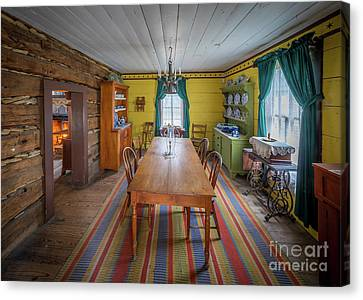 Antique Lounge Canvas Print by Inge Johnsson