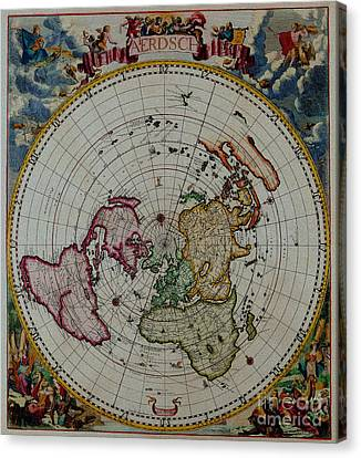 Antique Map Vintage Very Stylish Piece Canvas Print by R Muirhead Art