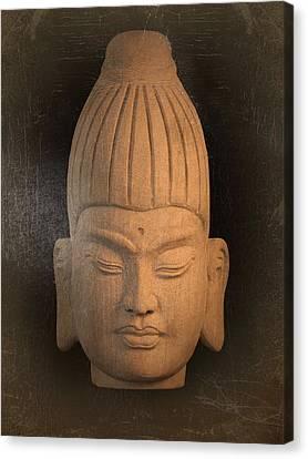 antique oil effect Buddha Burmese Canvas Print by Terrell Kaucher