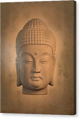 antique oil effect Buddha Korean , Canvas Print by Terrell Kaucher