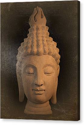 antique oil effect Buddha Sukhothai Canvas Print by Terrell Kaucher