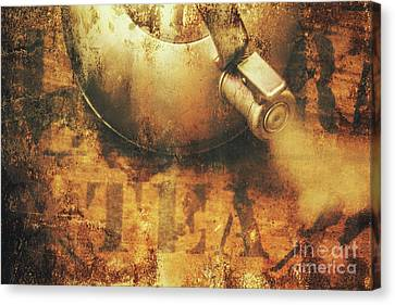 Antique Old Tea Metal Sign. Rusted Drinks Artwork Canvas Print