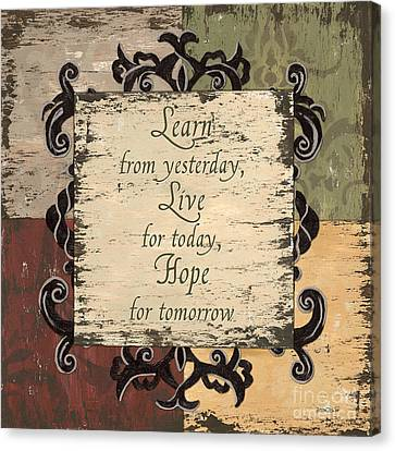 Patchwork Canvas Print - Antique Patchwork Inspirational by Debbie DeWitt