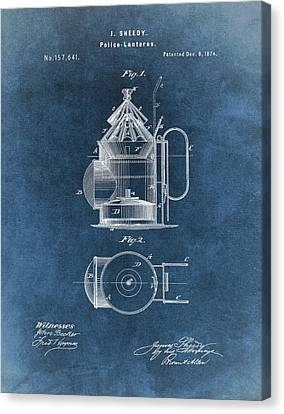 Antique Police Lantern Illustration Canvas Print by Dan Sproul