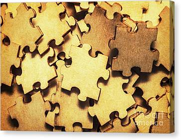 Random Shape Canvas Print - Antique Puzzle Of Missing Links by Jorgo Photography - Wall Art Gallery