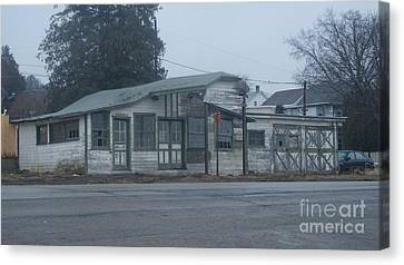 Not In Use Canvas Print - Antique Refueling Station   # by Rob Luzier