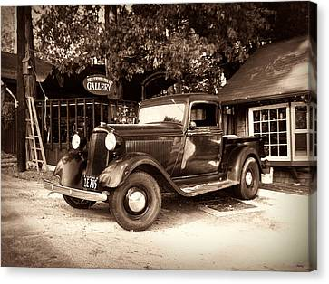 Old American Truck Canvas Print - Antique Road Warrior - 1935 Dodge by Glenn McCarthy Art and Photography