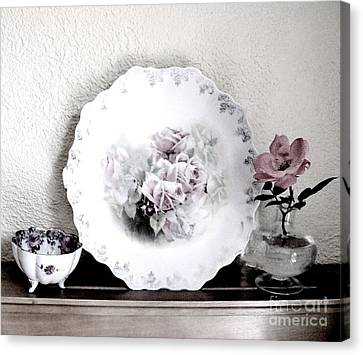 Antique Roses Of Old Canvas Print by Marsha Heiken