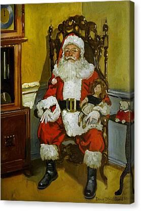 Antique Santa Canvas Print
