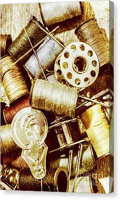 Antique Sewing Artwork Canvas Print by Jorgo Photography - Wall Art Gallery