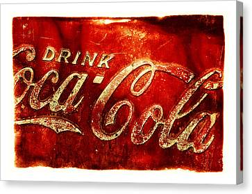 Antique Soda Cooler 2a Canvas Print by Stephen Anderson