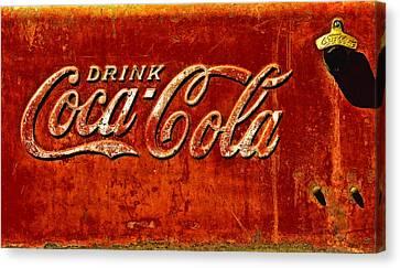 Antique Soda Cooler 3 Canvas Print