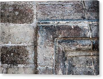 Canvas Print featuring the photograph Antique Stone Wall Detail by Elena Elisseeva