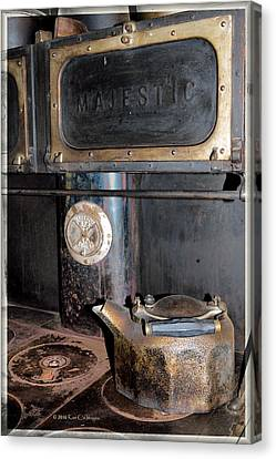 Antique Stove And Kettle Canvas Print