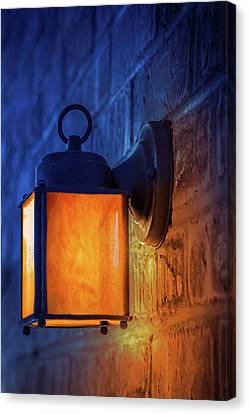 Old Light Bulb Canvas Print - Antique Street Lamp by Art Spectrum