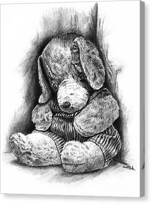 Antique Stuffed Animal Canvas Print
