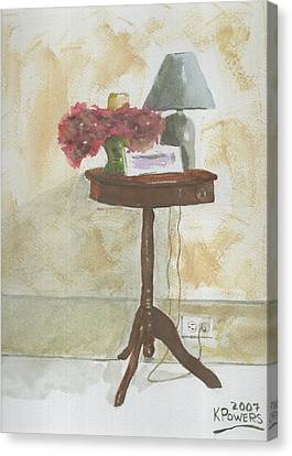 Antique Table Canvas Print by Ken Powers