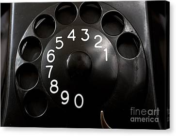 Antique Telephone Dial Canvas Print by Gunter Nezhoda