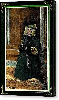 Antique Tibetan Lama Canvas Print by Peter Gumaer Ogden