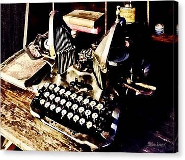Typewriter Canvas Print - Antique Typewriter Oliver #9 by Susan Savad