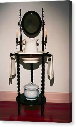 Antique Wash Stand Canvas Print by Sally Weigand
