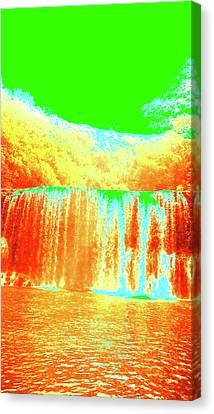 Antique Waterfall Canvas Print