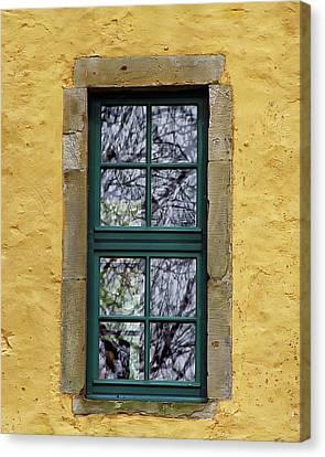 Antique Window View Canvas Print