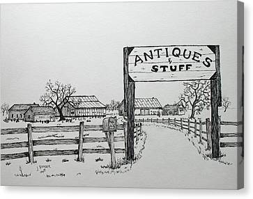 Antiques And Stuff Canvas Print by Jack G Brauer