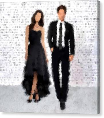 Canvas Print featuring the digital art Antonia And Giovanni by Nancy Levan