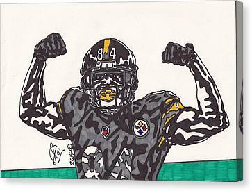 Steelers Canvas Print - Antonio Brown  by Jeremiah Colley