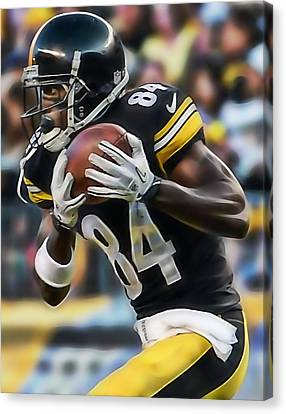 Antonio Brown Collection Canvas Print by Marvin Blaine