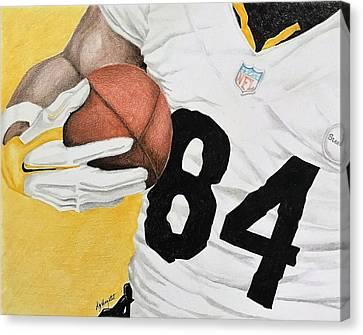 Steelers Canvas Print - Antonio Brown by Elizabeth Hazelet