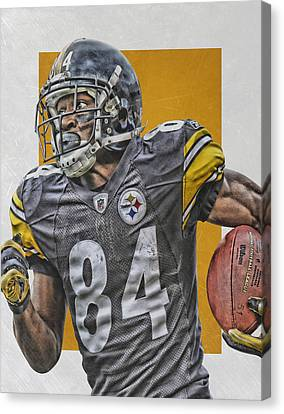 Antonio Brown Pittsburgh Steelers Art 3 Canvas Print by Joe Hamilton