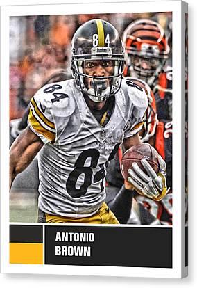 Antonio Brown Pittsburgh Steelers Canvas Print