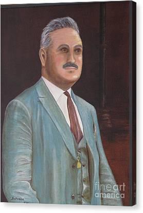 Antonio - Portrait Original Oil Painting Canvas Print by Anthony Morretta