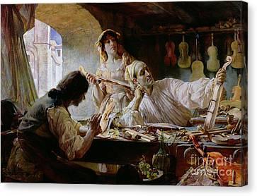 Antonio Stradivari Canvas Print by Edgar Bundy