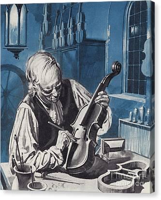 Antonio Stradivari Canvas Print by English School