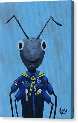 Ant's School Picture Canvas Print