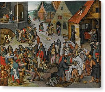 Antwerp The Seven Acts Of Mercy Canvas Print by MotionAge Designs