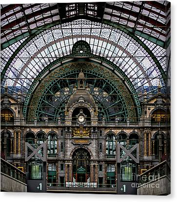 Antwerp Train Terminal Canvas Print by Doug Sturgess